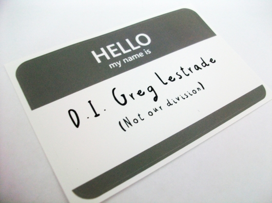 Greg Lestrade name tag sticker