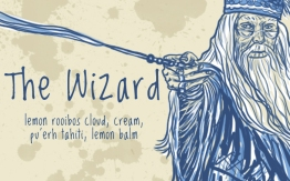 The Wizard/Dumbledore, digital tea label