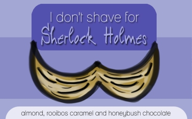 I don't shave for Sherlock Holmes, digital tea label
