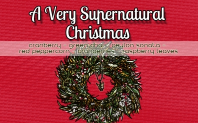 A Very Supernatural Christmas, digital tea label