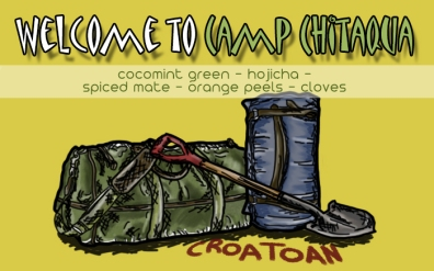 Welcome to Camp Chitaqua, digital tea label