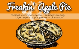 Freakin' Apple Pie, digital tea label