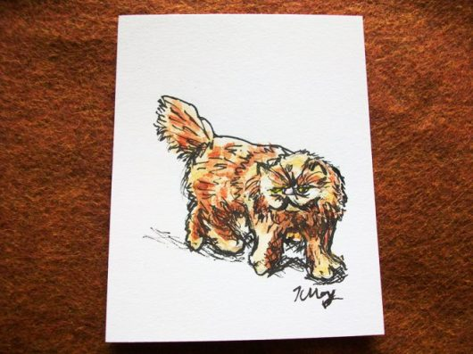 Crookshanks, ink and watercolor