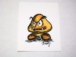Goomba, ink and watercolor