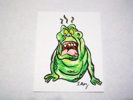 Slimer, ink and watercolor
